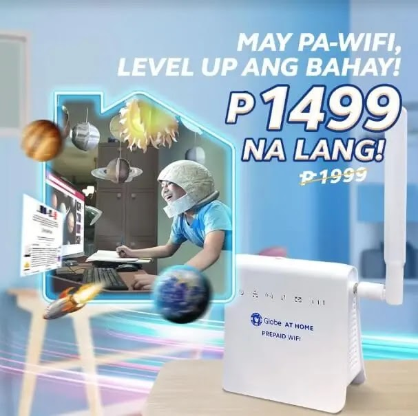 Globe At Home Prepaid WiFi Now Only Php1,499; Comes with 10GB Free Data