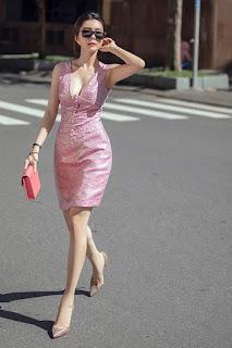 Hoa hậu Huỳnh Vy gợi ý đầm xinh xuống phố