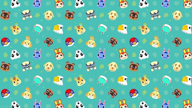 pastel animal crossing wallpaper