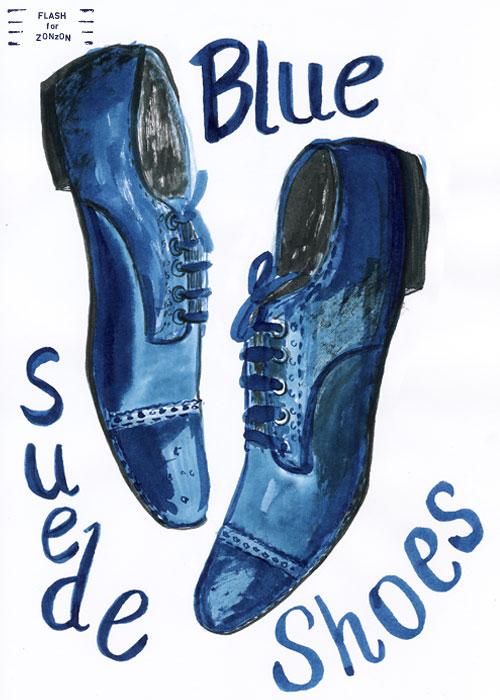 Elvis Presley Singing Blue Suede Shoes