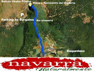 """El Nacedero del Urederra  es nuevamente noticia, por la afluencia de muchos  Viajeros  que se """"Resignan"""" ante las nuevas restricciones de acceso  a la Ruta de las Cascadas de Baquedano."""
