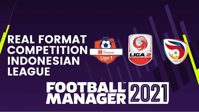 Main Liga Indonesia di Football Manager 2021 dengan Format Real