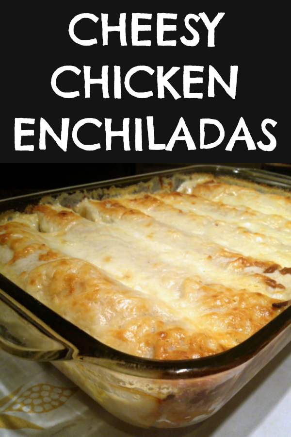 My family's FAVORITE chicken enchilada bake drenched in queso cheese made with tortillas stuffed with a creamy filling of tender flavorful chicken and taco seasoning.