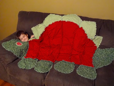 dinosaur rag blanket