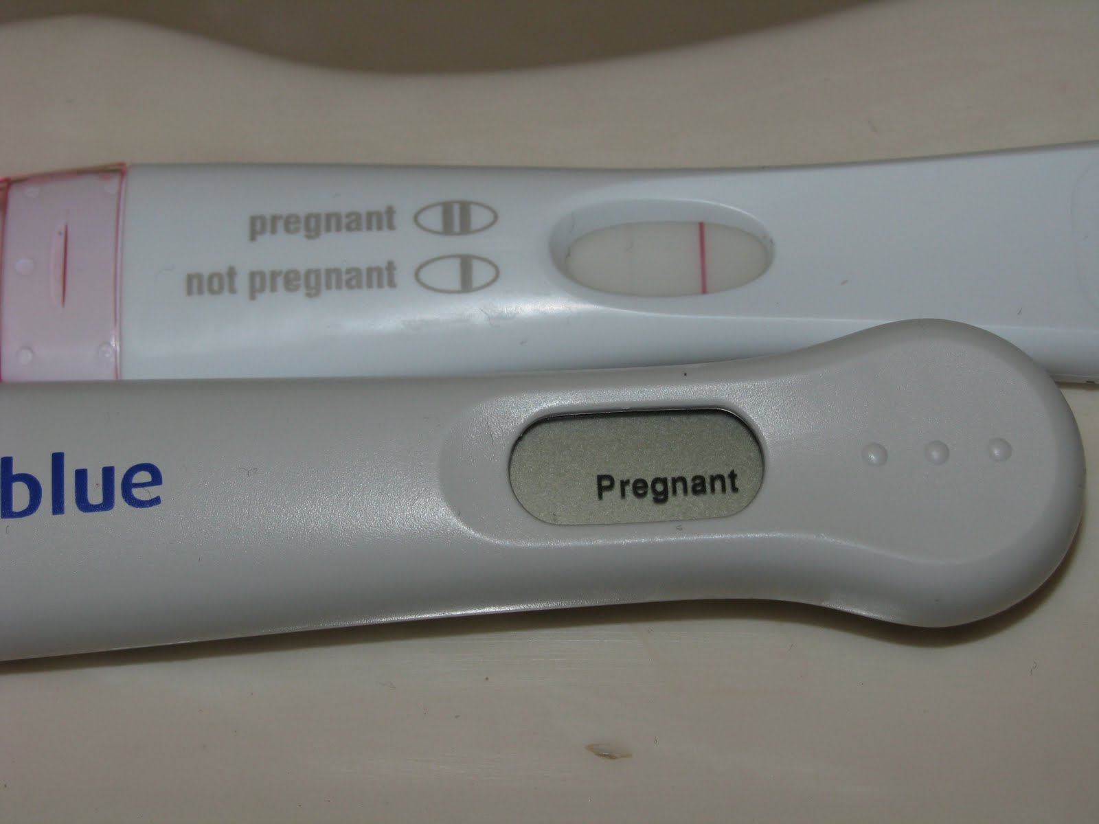 Clear blue pregnancy test lines