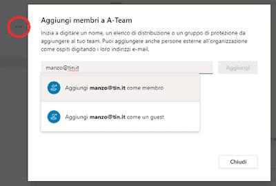 Aggiungere persone su Teams