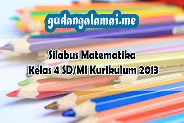 Silabus Matematika Kelas 4 SDMI Kurikulum 2013