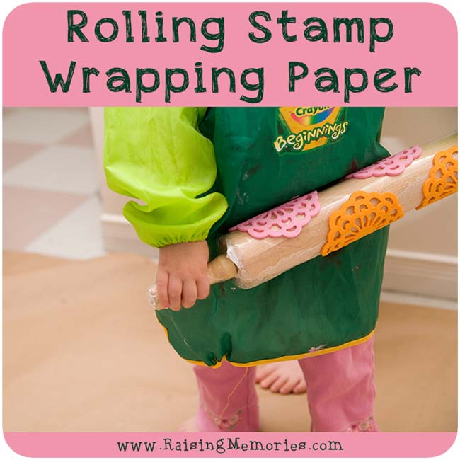 Rolling Stamp Wrapping Paper