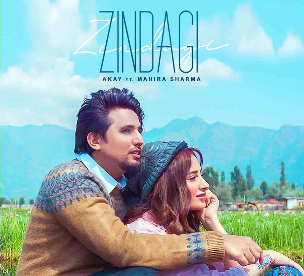Zindagi Punjabi Song Image Features Mahira Sharma Sung By A Kay