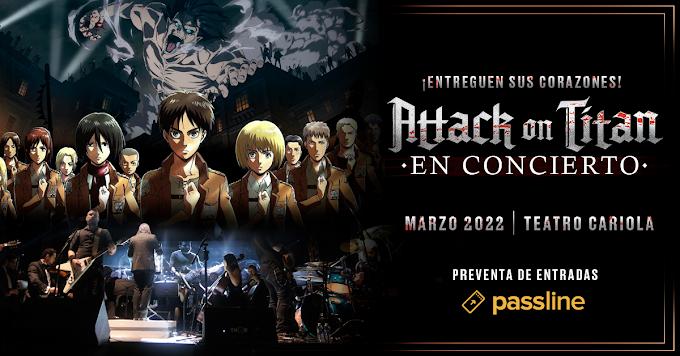 Anuncian concierto de Attack on Titan para 2022