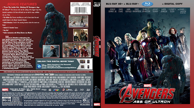 Avengers Age Of Ultron 3D Bluray Cover