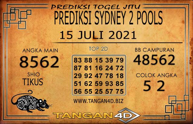 PREDIKSI TOGEL SYDNEY2 TANGAN4D 15 JULI 2021