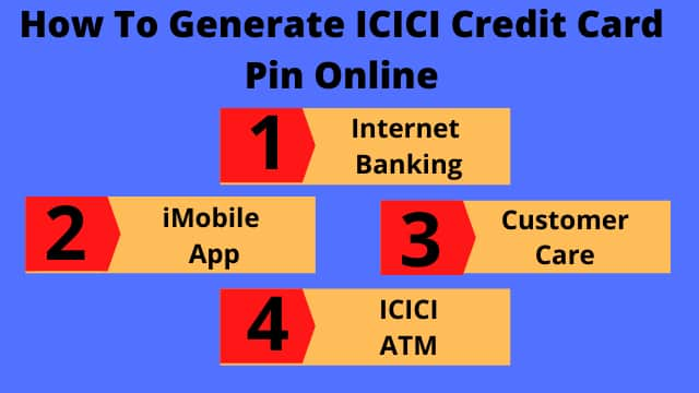 How To Generate ICICI Credit Card Pin Online