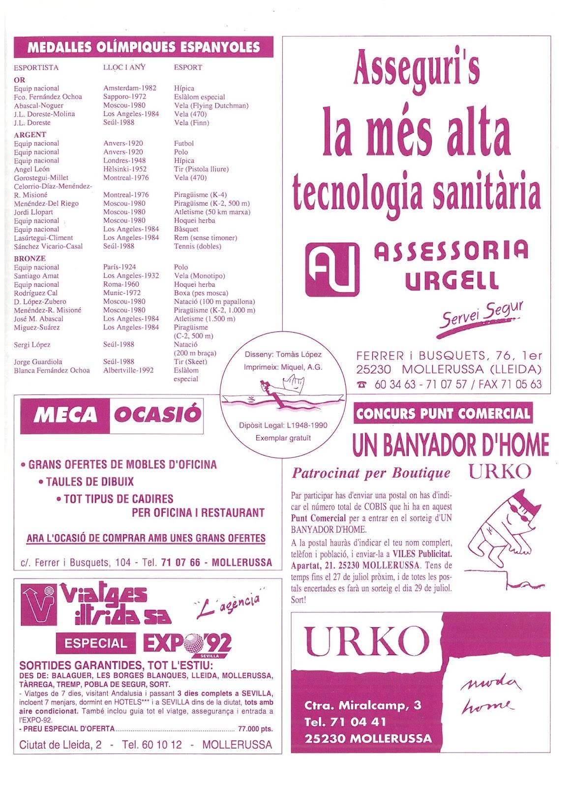 Calendario De 1976 Completo.Clase Turista De Paso Barcelona 92 Donde Estabais Un Dia