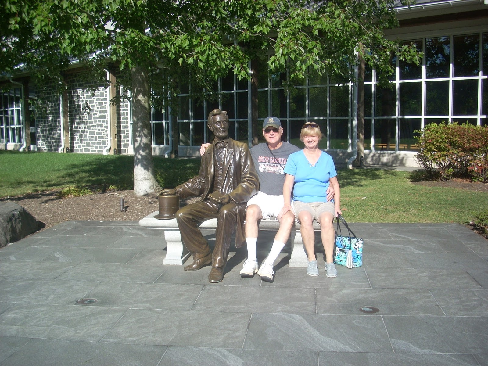on tuesday we drove to the gettysburg national military park museum visitor center