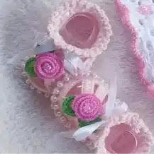 Zapatos de Bebé Aurora a Crochet