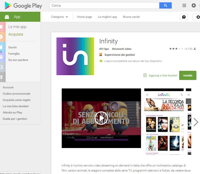 Cattura - Infinity: nuove versioni