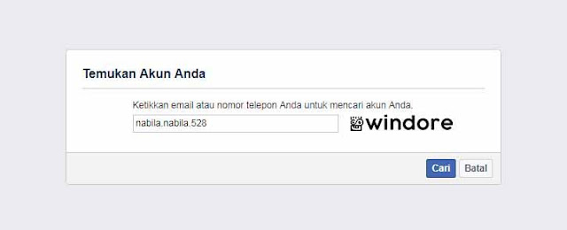 Cara Melihat Email Facebook di Lupa Password