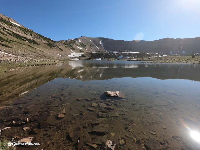 Backpacking to Naturalist Basin, Uintas, hiking to spread eagle peak