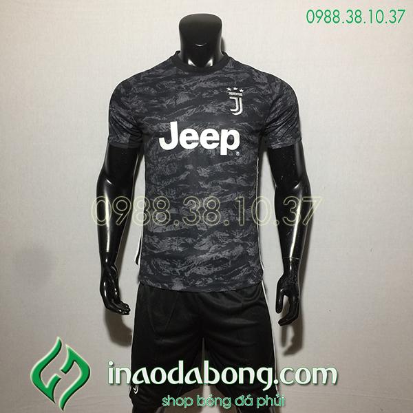 Áo bóng đá câu lạc bộ Juventus màu đen 2020