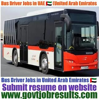 Bus Driver Jobs in UAE 2021 United Arab Emirates