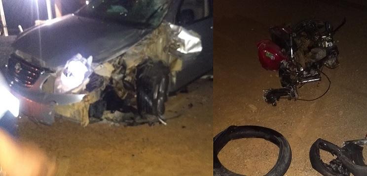 Jovem motociclista morre em um grave acidente com carro na estrada da Tapera, em Petrolina (PE)
