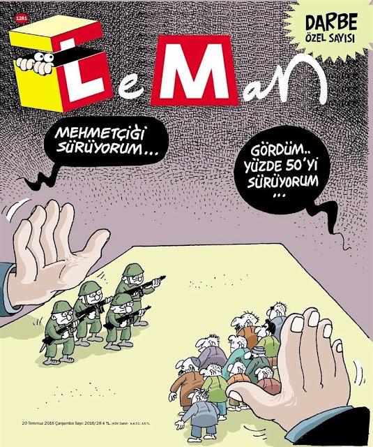 Leman Dergisi - 20 Temmuz 2016 Kapağı