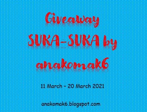 Giveaway SUKA-SUKA by anakomak6