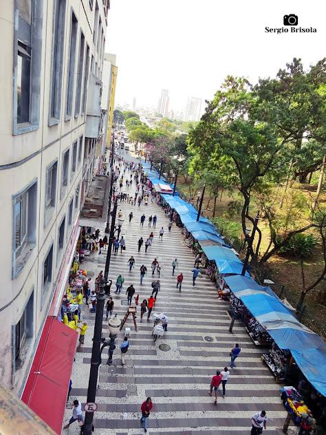 Vista superior da Rua General Carneiro - Centro - São Paulo