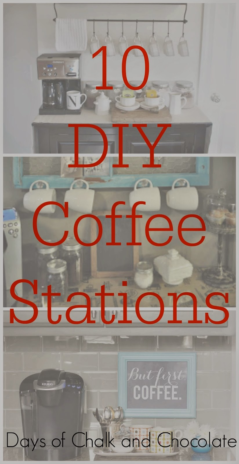 Coffee Station 10 Diy Coffee Stations Days Of Chalk And Chocolate