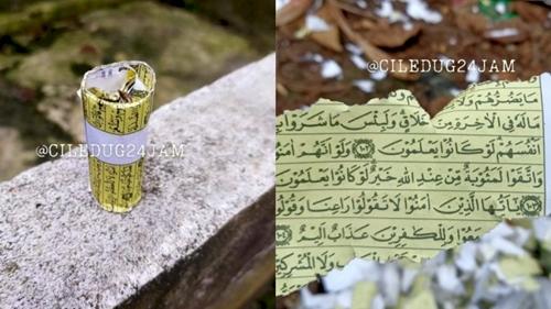 Heboh Al-Quran Dijadikan Bahan Petasan di Tangerang