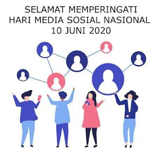 ucapan hari media sosial nasional 10 juni 2020 - youtube