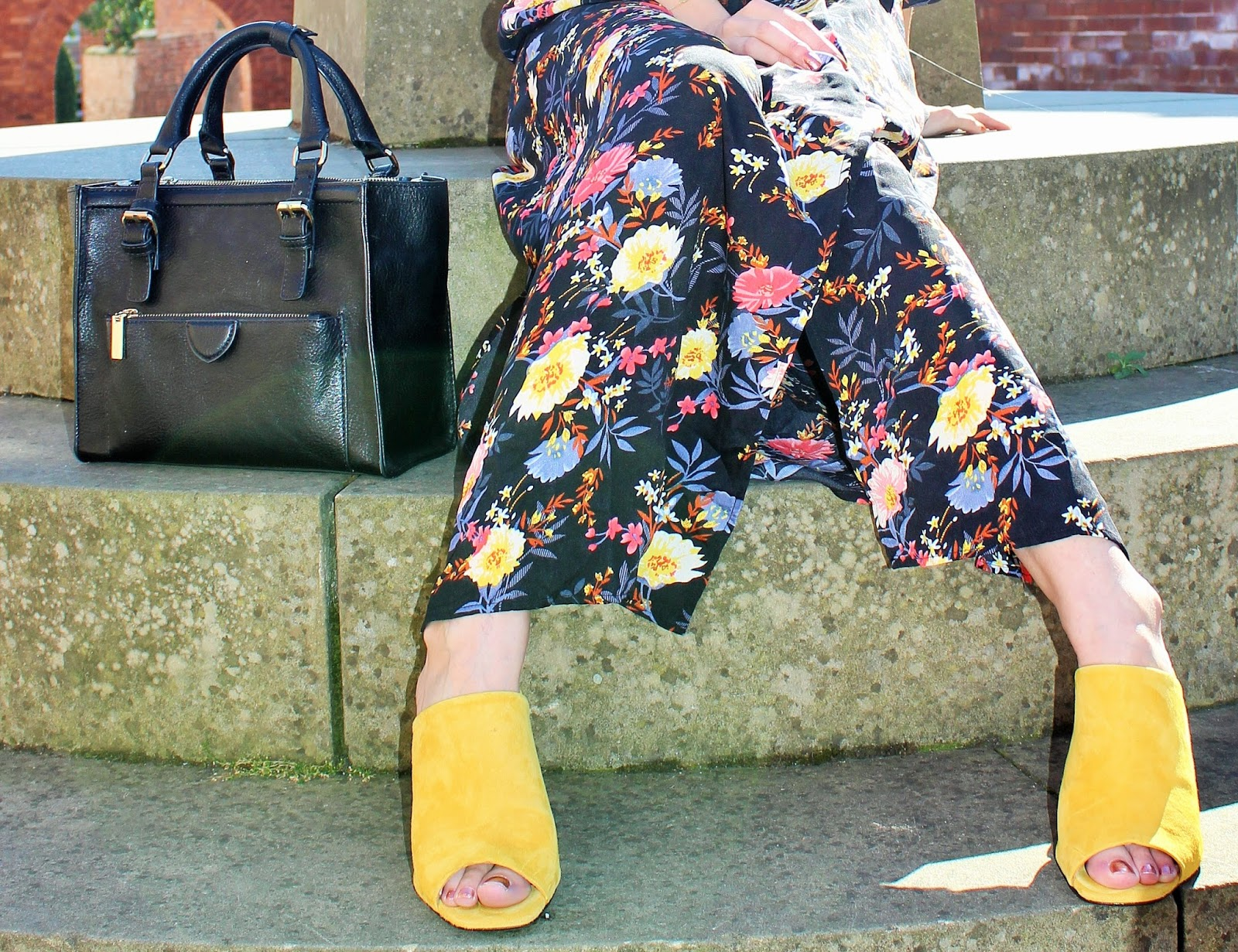 Bloggers X Boohoo Dress of the Month OOTD 3 - Topshop Mustard Mules