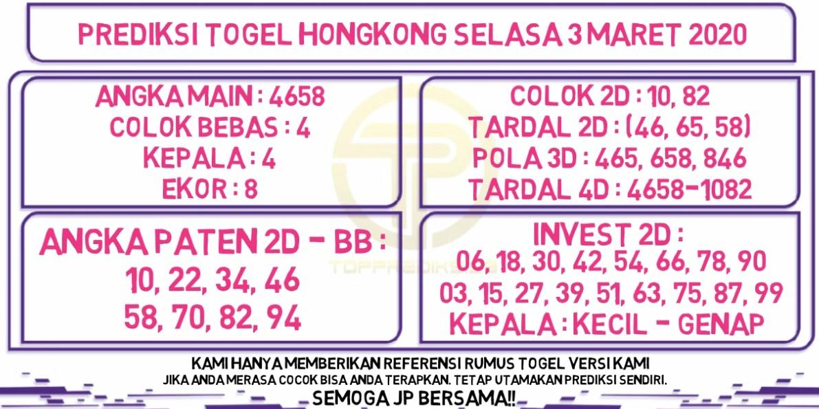 Prediksi Togel JP Hongkong Selasa 03 Maret 2020 - Prediksi Togel JP