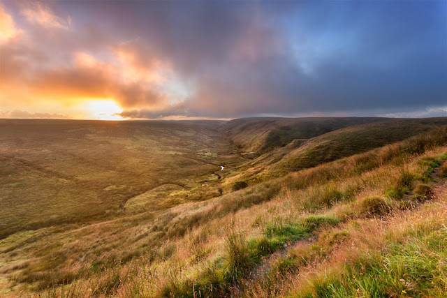 Exmoor National Park near Simonsbath at sunrise by Martyn Ferry Photography