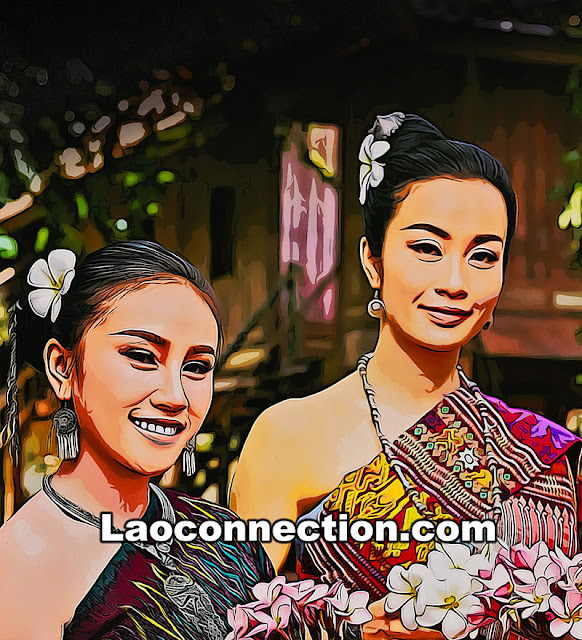 Digital graphic design of Lao Women