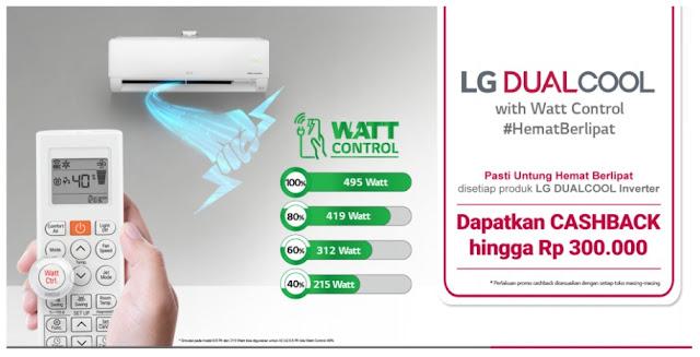ac lg dual with watt control hemat berlipat
