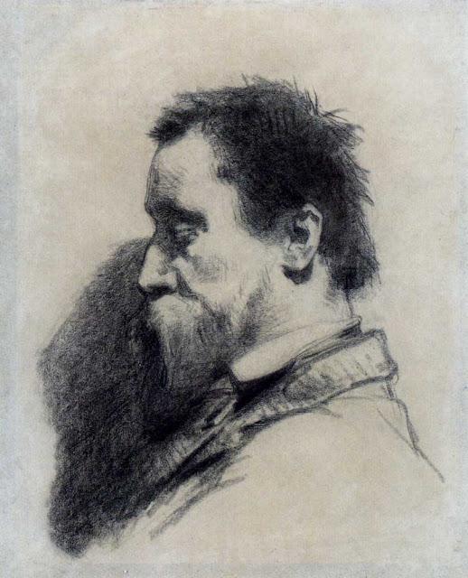 Жан Франсуа Милле - Портрет мужчины (предположительно, Леопольда Дебросса)