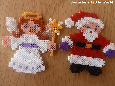 Mini Hama bead Christmas crafts