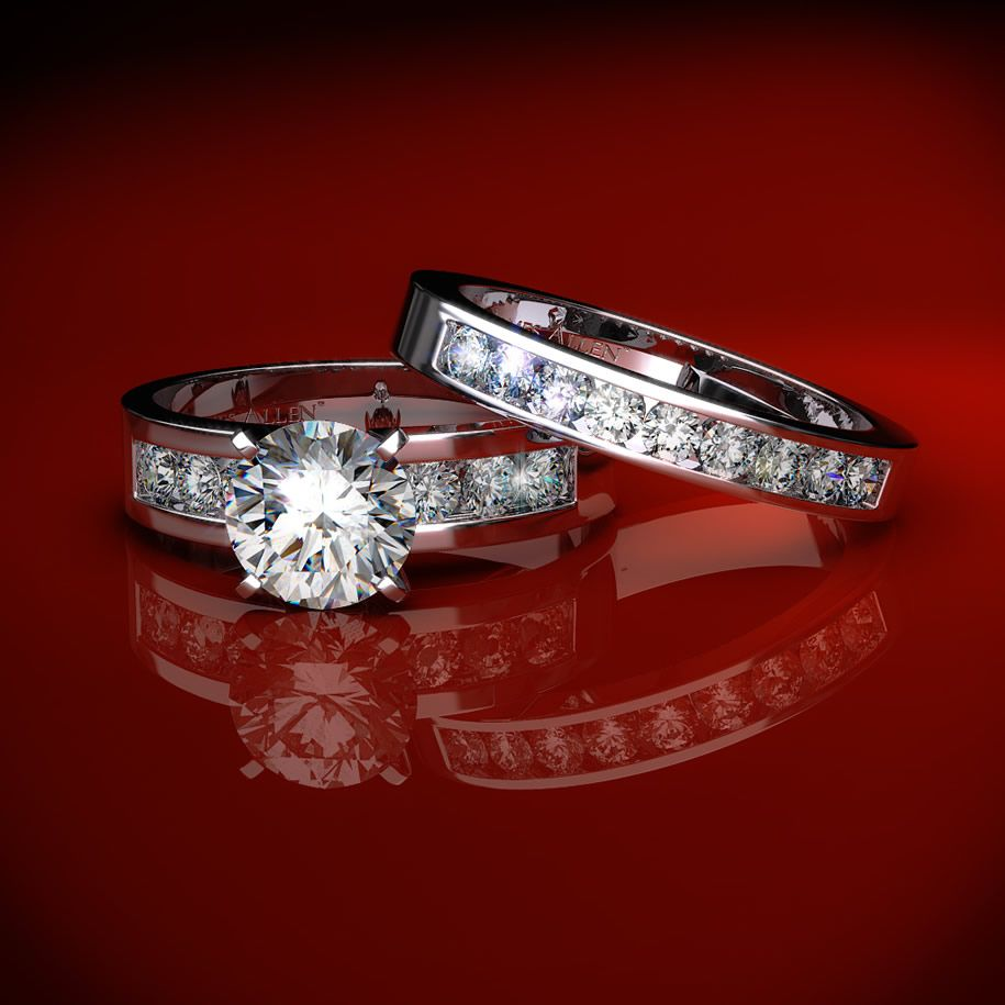 Bridals And Grooms: Men And Women Diamond Rings For