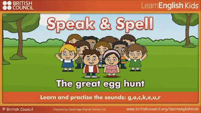 http://learnenglishkids.britishcouncil.org/en/speak/the-great-egg-hunt