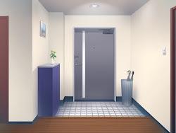anime door background landscape