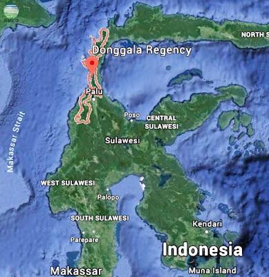 Gambar Peta Lokasi Episenter Gempabumi Donggala