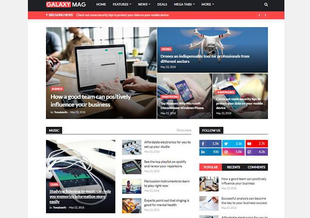 galaxymag blogger template, galaxymag responsive news & magazine blogger template, templates go, blogger theme, blogger news templates, magazine theme