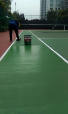 jenis pengecatan lapangan tenis