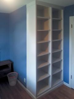 Built-in Student Bedroom Bookcase