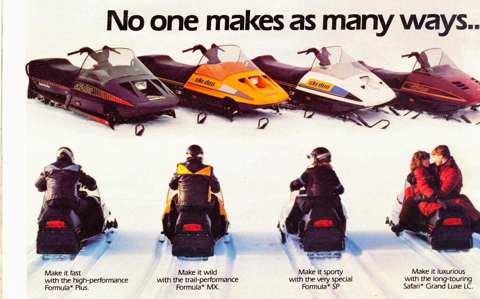 CLASSIC SNOWMOBILES OF THE PAST 1986 SKI DOO LINE UP