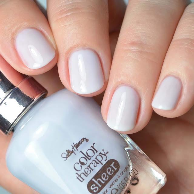 blue toned sheer nail polish