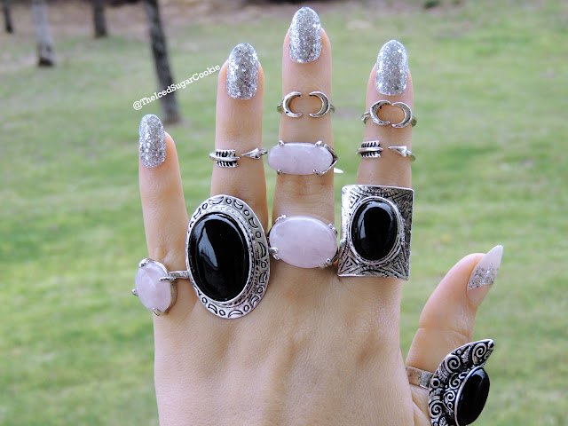 Boho Midi Rings, Silver Boho Midi Rings, Black Fashion Rings, Statement Rings, Bohemian Rings, Coachella Rings, Tribal Rings, Hipster Rings, Hippie Rings, Indian Rings