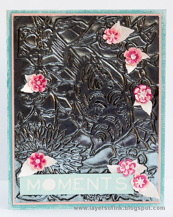 Layers of ink - Debossed Metallic Bird Tutorial by Anna-Karin